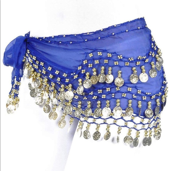 ccd8ca045 Accessories | Belly Dance Hip Scarfskirt Gold Coins | Poshmark